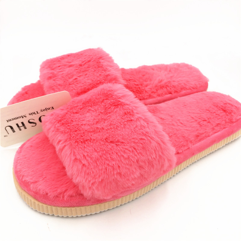 Design Fashion Women Slippers Home Indoor Ladies Plush Furry Flats Slides Home Fur Indoor Slippers Flip Flops Female Shoes