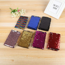 Hitam Sequin Notebook A6 Diary Notebook Kertas Kreatif Toko Buku Agenda Perencana Jurnal Sketchbook Chancery(China)