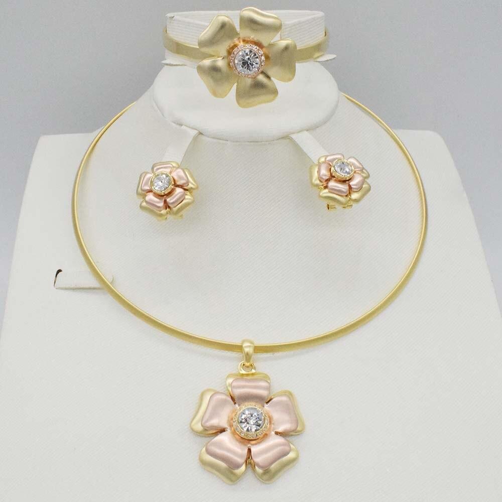 Dubai Gold 3color Jewelry Sets Nigerian Wedding African Beads Crystal Bridal Jewellery Set Rhinestone Ethiopian Jewelry parure