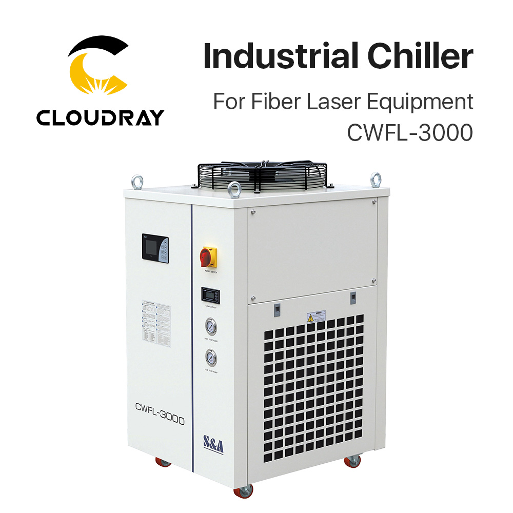 Cloudray S&A CWFL-3000 Industry Air Water Chiller For Fiber Laser Engraving Cutting Machine