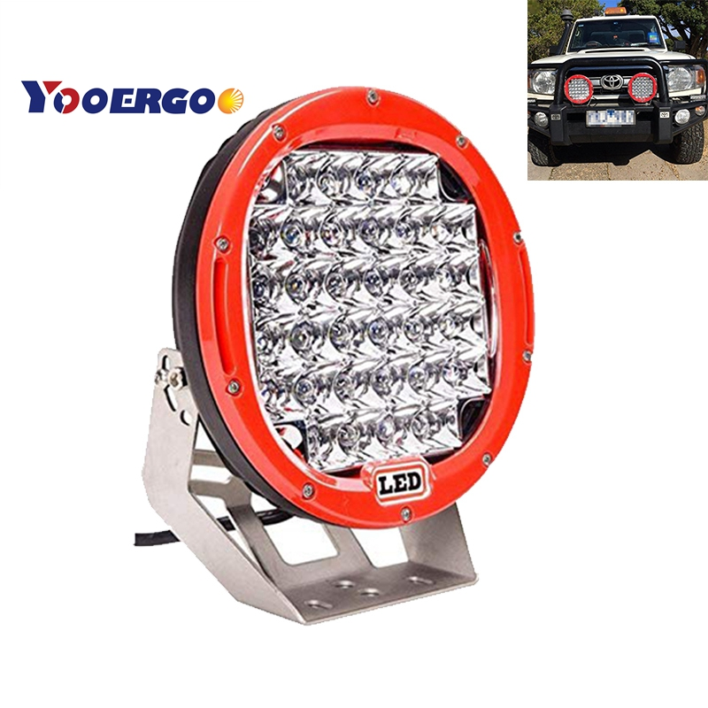 2018 New YOOERGOO 9 inch LED Work Light Bar 96W 12V 24V Light Spot Flood For 4WD 4x4 Car Truck Trailer SUV Offroad Boat ATV LED 9 inch osram chips 90w offroad led work light bar spot flood combo car truck trailer suv boat pickup 4wd 4x4 12v 24v headlight