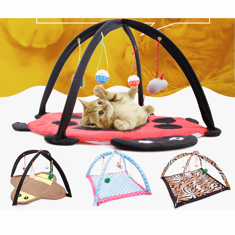 Four Play Toy Cat Kitten Tent Bed Bed Animal Toy For Pet Cat Training Cat Toy