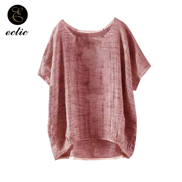 ede834a8268f8 Plus Size Clothing For Women 5xl Vetement Femme 2019 Fashion Tie Dye Tshirts  Linen Flax Bluz Tumblr Oversized Tshirt Thin Fabric