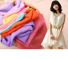 1Meter *150CM Fashion Georgette Solid color Chiffon Fabric Lining/Dress/Clothes Shirt Sewing 01
