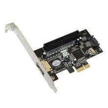 Combo sata ii + IDE PCI Express, carte contrôleur RAID, 1Port IDE et 1port sata pour PC/ordinateur de bureau