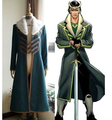 The Avengers Thor Loki Cosplay Costume cosplay jacket loki jacket coat custom made cosplay