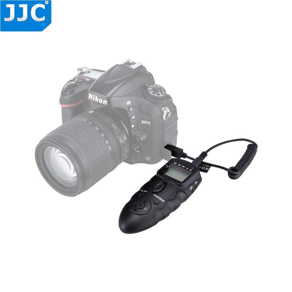 JJC Wired DSLR Camera Timer IR Telecomando A Infrarossi per NIKON D7500/D600/Df/D610/D750D3100//D3200 D3300/D5000/D5100/D5500/Df/P7800