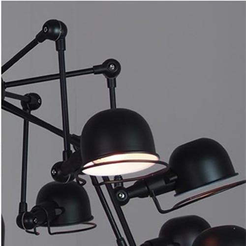 Très Vintage loft 12 lumières araignée lustre Éclairage industriel noir  SY87