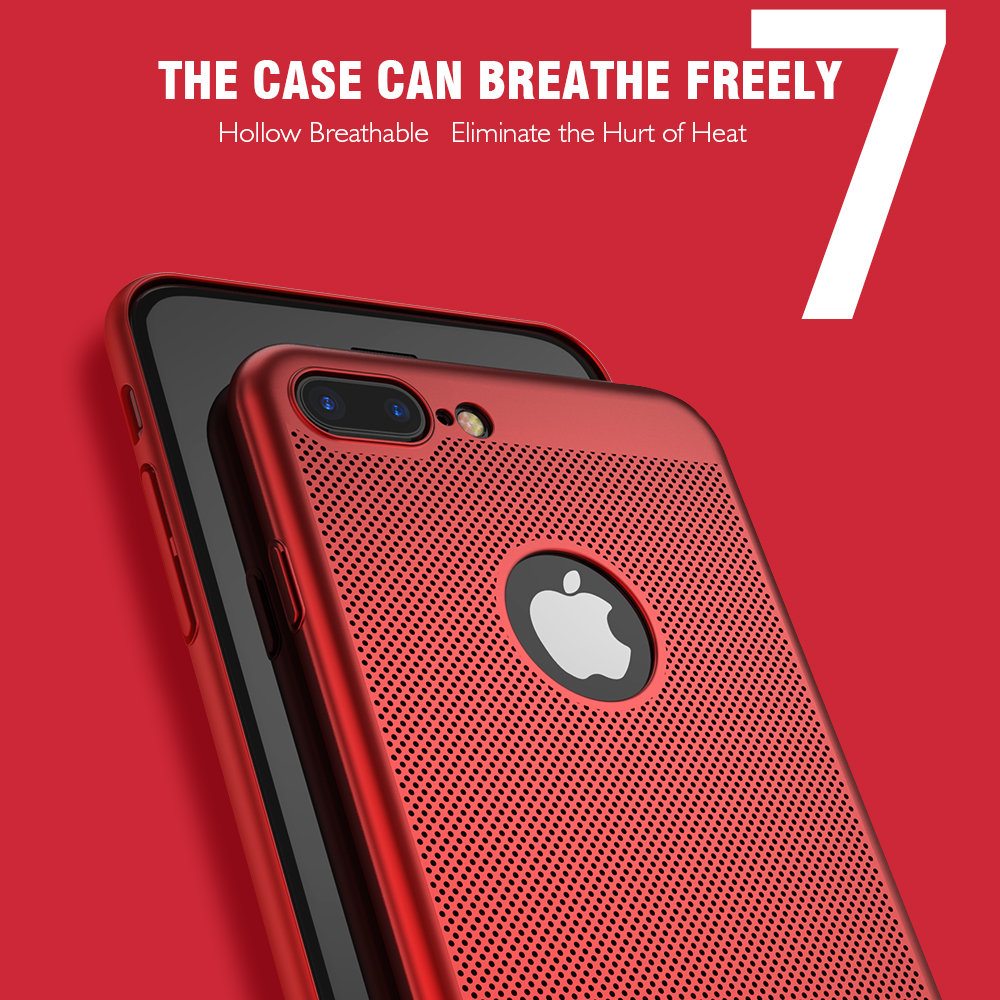 FLOVEME Luxury Phone Cases For IPhone 5 5s SEBlack Red Matte Mobile Bag 7 6 6s Plus X Cover Logo Hole In Bumper From
