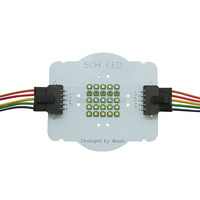 Customize 5 Channel 25Leds Cree XPE XP E2 RGBWW Led Emitter Lamp Lights Red Green Blue