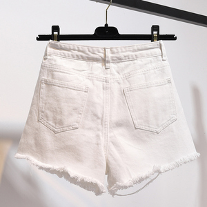 Image 3 - TIGENA High Waist Denim Shorts Women 2020 Summer Plus Size Pocket Tassel Hole Ripped jeans Short Female Femme Short Pants Women