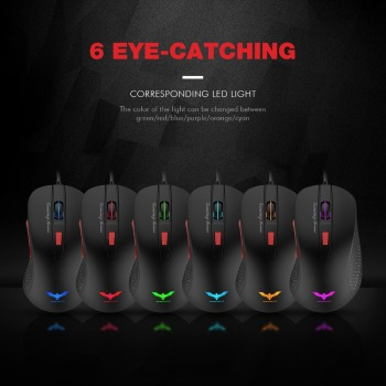 HAVIT-Wired-Gaming-Mouse-USB-Optical-LED-Lights-Mouse-Gamer-2800-DPI-with-6-Button-For-PC-Laptop-Desktop-Computer-Game-HV-MS745-4