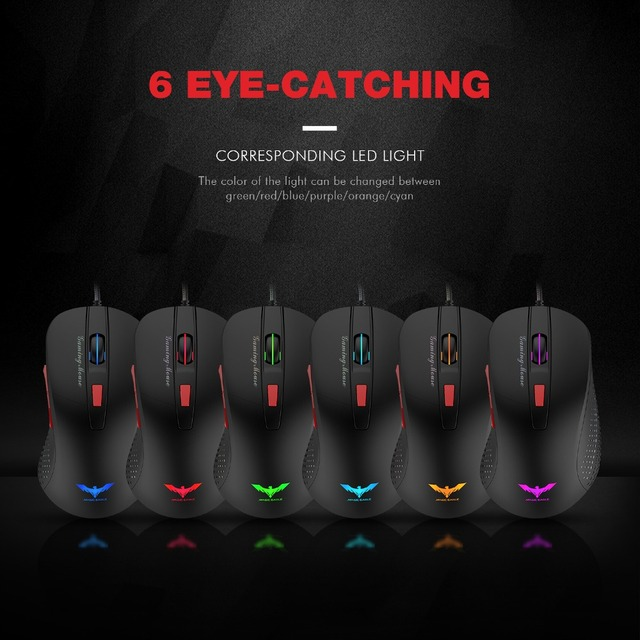 HAVIT Wired Gaming Mouse USB Optical Mouse 4