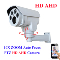 AHD Bullet Camera Full HD AHDH 1080P 960P IR Outdoor 10X pan tilt zoom 5-50mm autofocus Varifocal 2.0MP 1.3MP PTZ Camera IR cut