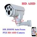 AHDH Bala AHD Cámara Full HD 1080 P 960 P IR Al Aire Libre 10X pan tilt zoom 5-50mm Varifocal 2.0MP $ NUMBER MP enfoque automático Cámara PTZ IR corte