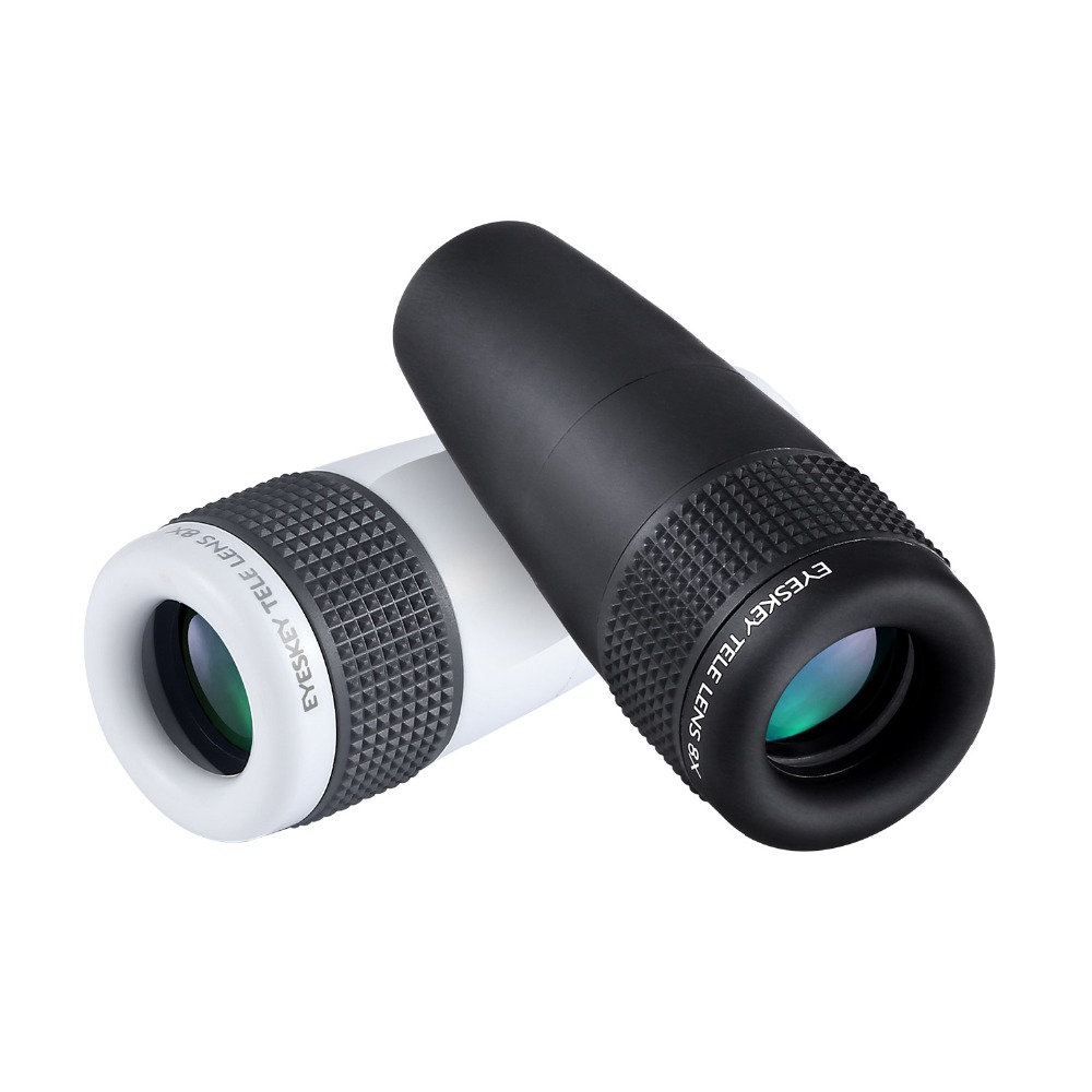 Eyeskey 8x Zoom Portable Mini Cell Phone Telescope Lens Wide Angle Eyepiece Lens with Adapter Connect to Phone new 2 0mp telescopes hd digital eyepiece camera st4 to usb adapter for guide star to equatorial wide angle lens