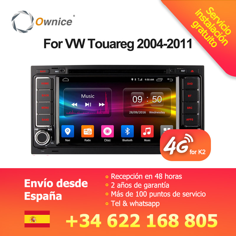 Ownice Android 6.0 4g SIM LTE Octa Core 2g RAM Voiture DVD GPS Radio pour Volkswagen Touareg T5 transporter Multivan 2005-2011 Stéréo