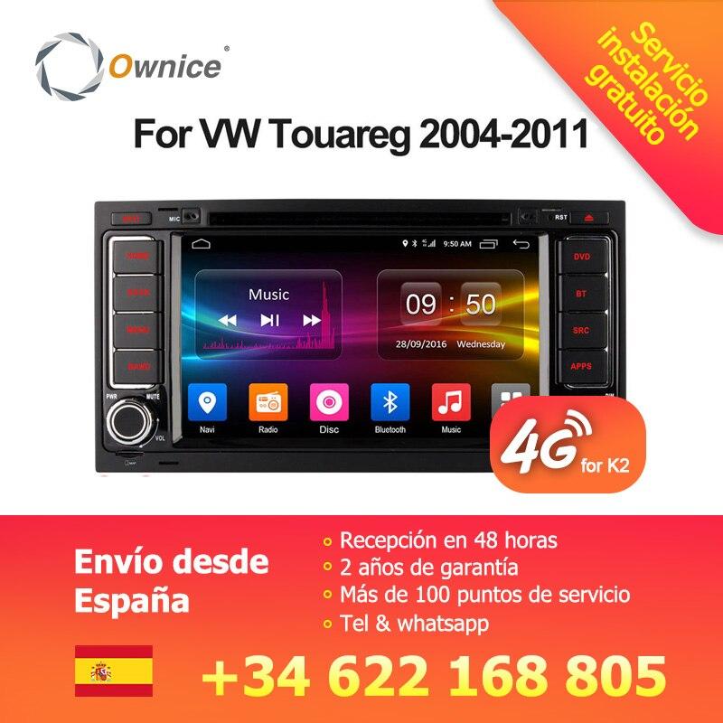 Ownice Android 6.0 4g SIM LTE Octa Core 2g RAM Voiture DVD GPS Radio pour Volkswagen Touareg T5 transporter Multivan 2005-2011 Stéréo