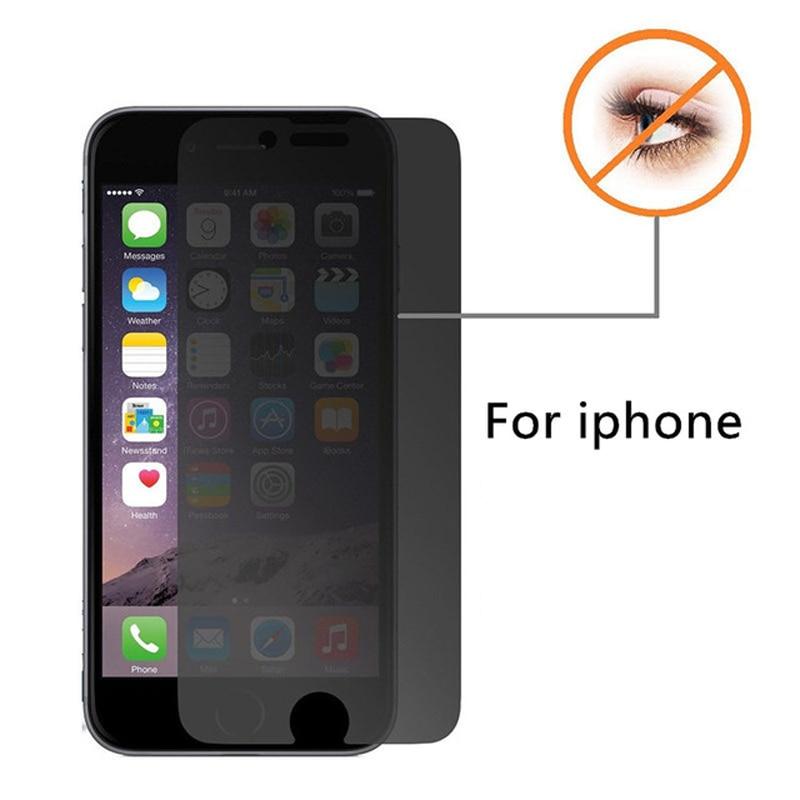 imágenes para 10 unids borde 2.5d arco anti-espía privacidad premium vidrio templado para el iphone 7 6 Plus 6 s 5C 5S SÍ 4S 4 Protector de la Pantalla película