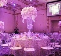 80cm Crystal Table Centerpiece Wedding Chandelier Flower Stand Wedding Decor