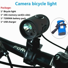 Bike Front Light MTB T6 Bike light 720p Lens HD Outdoor Sports Camera DV Digital Video DV Action Video Cameras цена и фото
