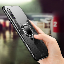 Luxury Shockproof Armor Protective Phone Case For Xiaomi Mi 9 SE Magnetic Ring Holder Back Cover 8
