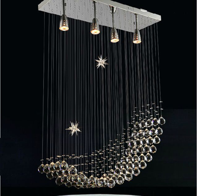 Free shipping modern crystal chandelier lighting fashion ceiling lamp dining room pendant lamp - Dining room crystal chandelier ideas ...