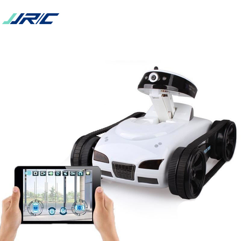 JJRC 777-27 Remote Control Mini WiFi RC Robot Car Camera Real-time Tank Kids Toy For Iphone IOS For Android Smart Phone Gifts new arrival rc tank happy cow 777 325 wifi rc car with 30w pixels camera support ios phone or android