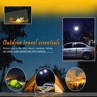 Portable 46W LED FloodLight IP65 Waterproof Spotlight Outdoor Wall Lighting 3M telescopic pillar Warm White yellow Panel lamp