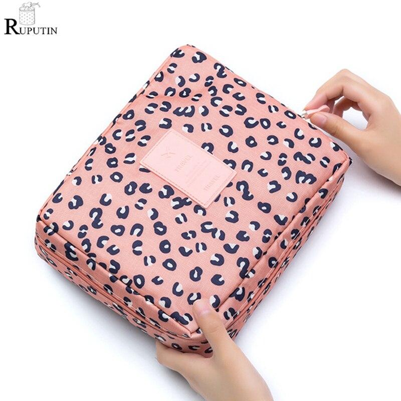 RUPUTIN Travel Cosmetic Storage Bags Multifunction Women's Toiletries Organizer Make Up Bag Waterproof Makeup Storage Wash Cases
