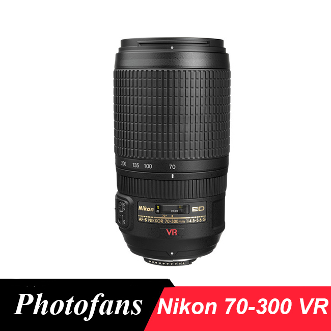 Nikon 70-300 ED VR Lens Nikkor AF-S 70-300mm f/4.5-5.6G ED-IF VR Professional Dslr Lenses new original af s vr nikkor 300mm f 2 8g if swm unit for nikon 300mm f2 8g swm unit 1b060 740 slr camera lens replacement parts