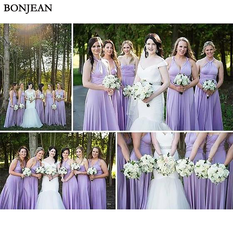 2019 Simple Purple Long   Bridesmaid     Dress   Sleeveless Pleat Formal   Dress   Mismatched Party   Dress   Sleeveless   Bridesmaid     Dresses