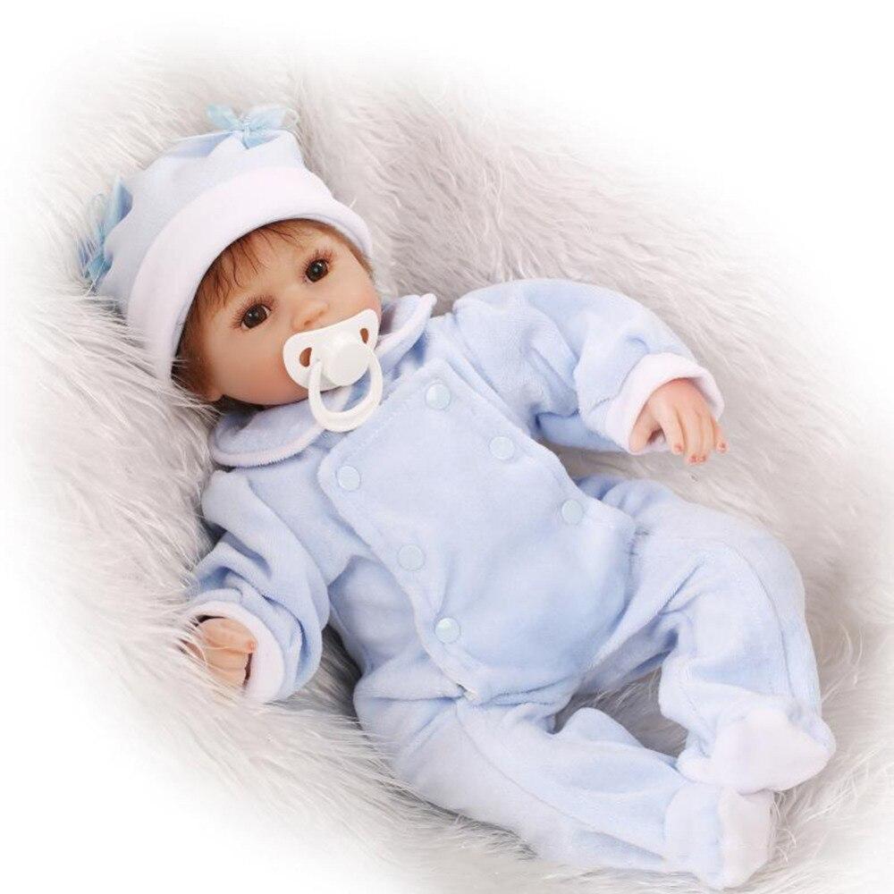 40 CM Simulation reborn bébés poupées doux bébé jouant dormir accompagnant poupées réalistes pour garçons filles cadeau d'anniversaire