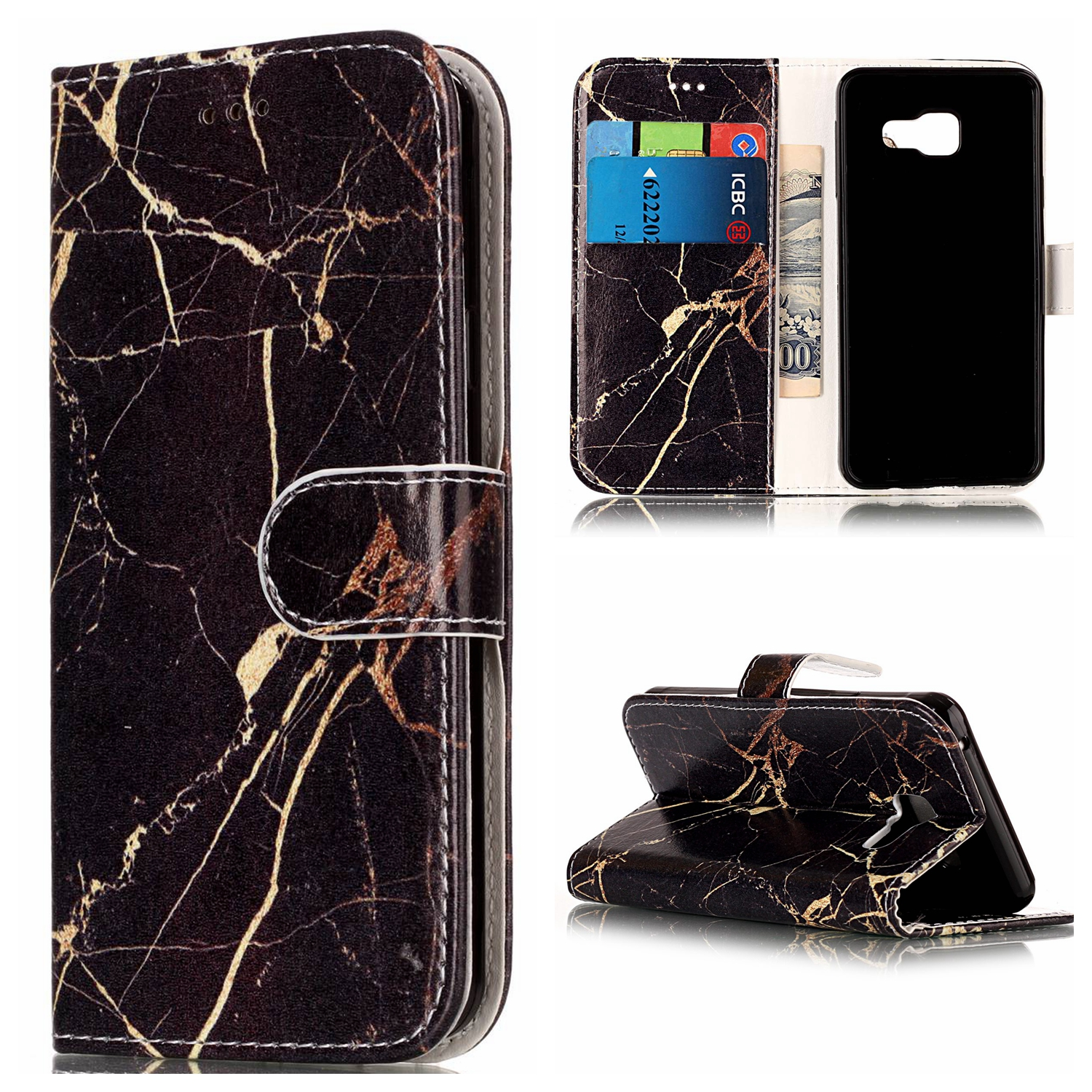 Case for Samsung Galaxy A5 A510 2016 PU+TPU Case for Samsung A510 A5 2016 SM-A5108 A5100 A510F/Y/L/K/S Marble pattern phone bag