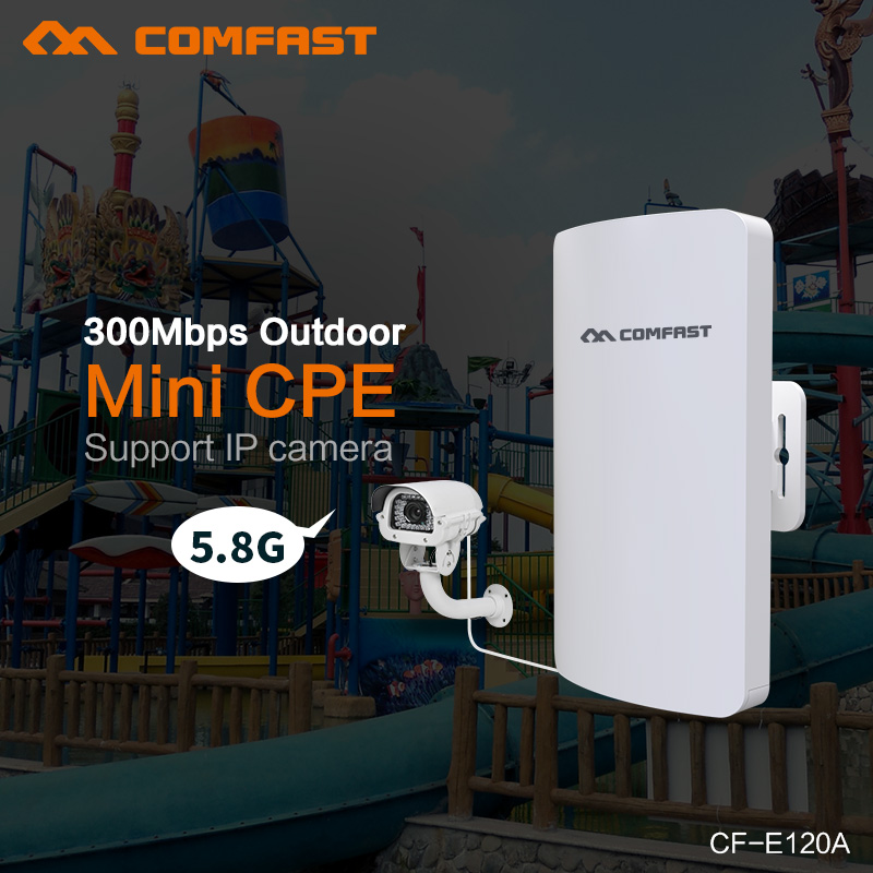 Comfast CF-E120A 300Mbps 5.8G Wireless Mini CPE WIFI Router 11dBi Antenna PoE Long Distance Wifi Repeater Outdoor IP Cam Bridge