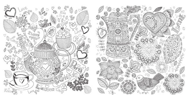 89 Coloring Book Pages Secret Garden