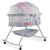 Portable Baby Crib Kids Sleeping Bags Pillow Newborn Baby Cradle Folding Bed Manual Crib 0~18 Months Use