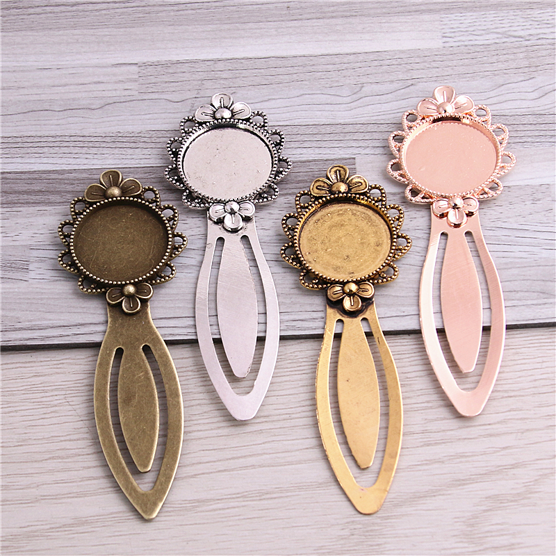 Sweet Bell 8pcs Two color Alloy Cameo Flower Steel Bookmarks 20mm-28*83mm Round Cabochon Settings Jewelry Blank Charm 13C1633Sweet Bell 8pcs Two color Alloy Cameo Flower Steel Bookmarks 20mm-28*83mm Round Cabochon Settings Jewelry Blank Charm 13C1633
