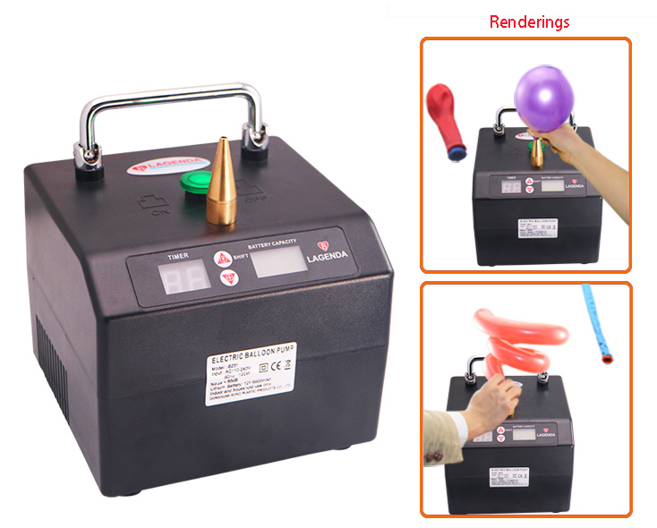 Gonfleur électrique portatif de ballon de modélisation de pompe de ballon pour des mariages de noël de partie