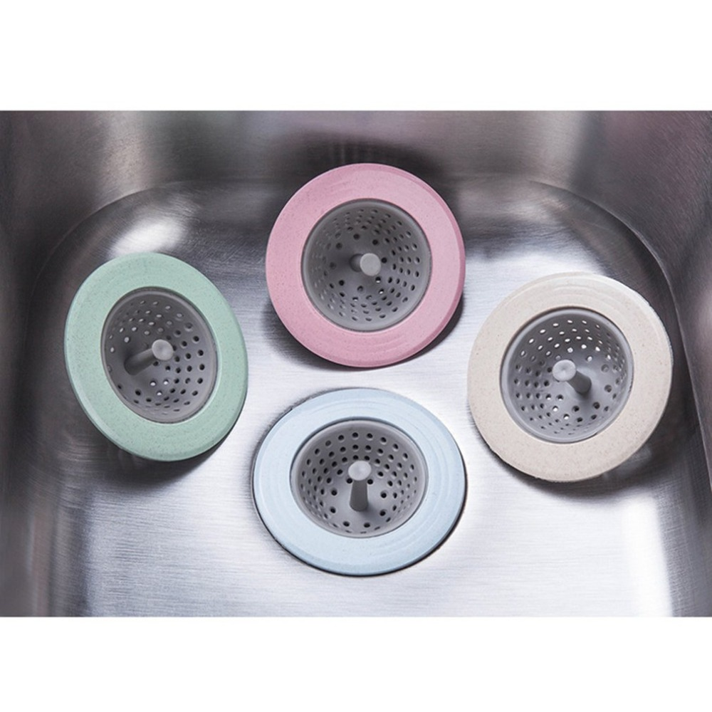 Sink Strainer Basket Mesh Filter Sink Drain Plug Cover Anti-blocking Strainer Residue Stopper Kitchen Bathroom Tools