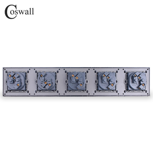 Image 4 - COSWALL Wall Crystal Glass Panel 5 Gang Power Socket Grounded 16A EU Standard Quintuple Outlet With Children Protection Door