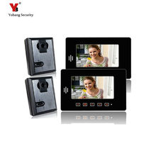 Yobang Security 7″ Apartment Entry Door Phone system 2 monitors+2 cameras Video intercom Doorbell Kit for Apartment Security