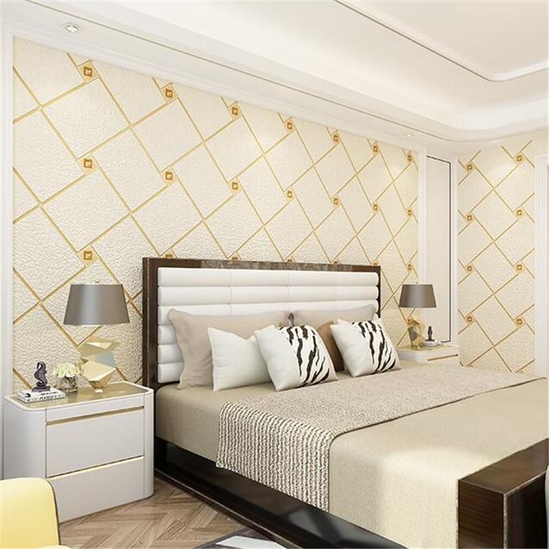 beibehang TV background wall wallpaper modern simple ...