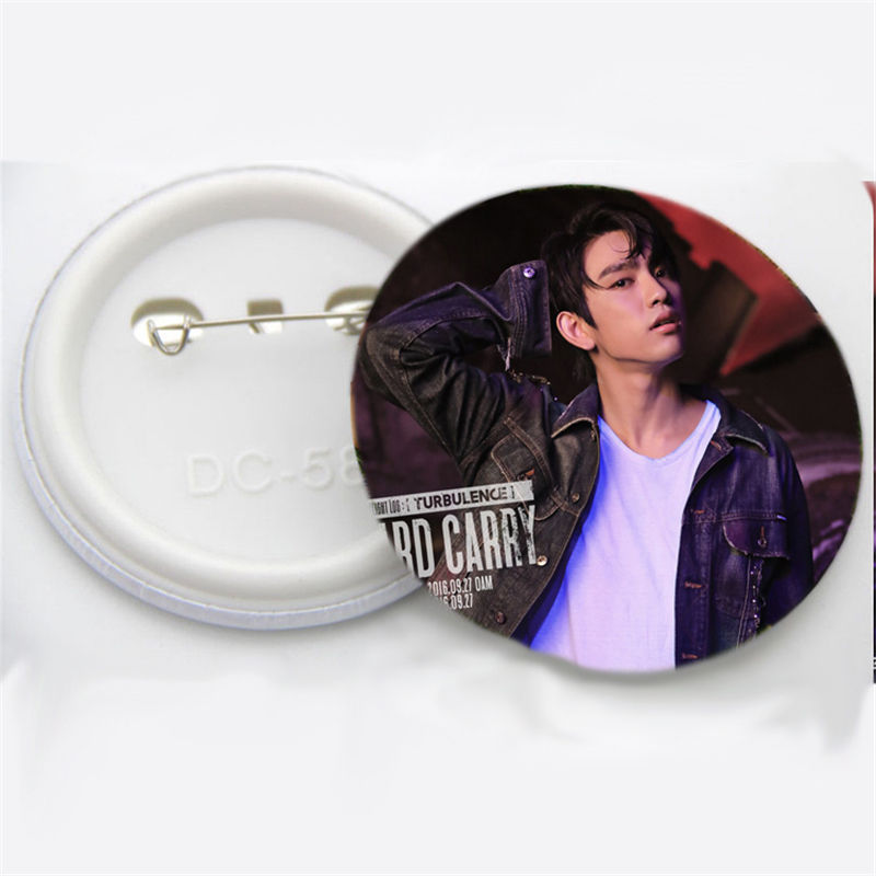 Kpop GOT7 Hard Carry Badge FLIGHTLOG:TURBULENCE Brooch Chest Pin Bambam Jackson