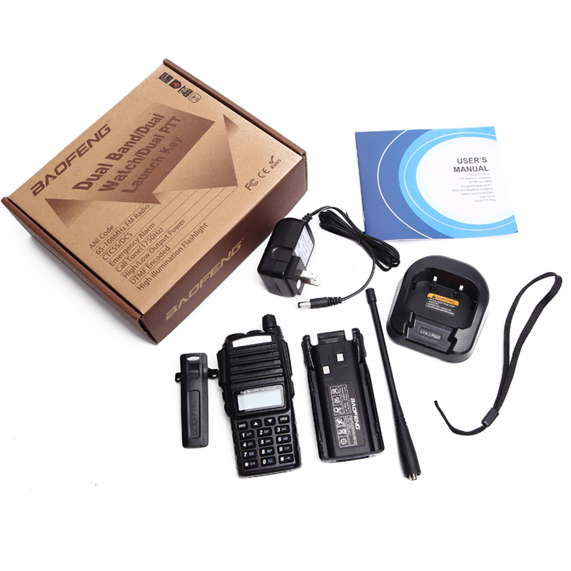 Image 5 - Baofeng UV 82 Walkie Talkie 5W Dual PTT UHF&VHF ham Radio 2 Way Radio For Hunting Tracker Woki Toki Ham CB Radio Station UV 82-in Walkie Talkie from Cellphones & Telecommunications