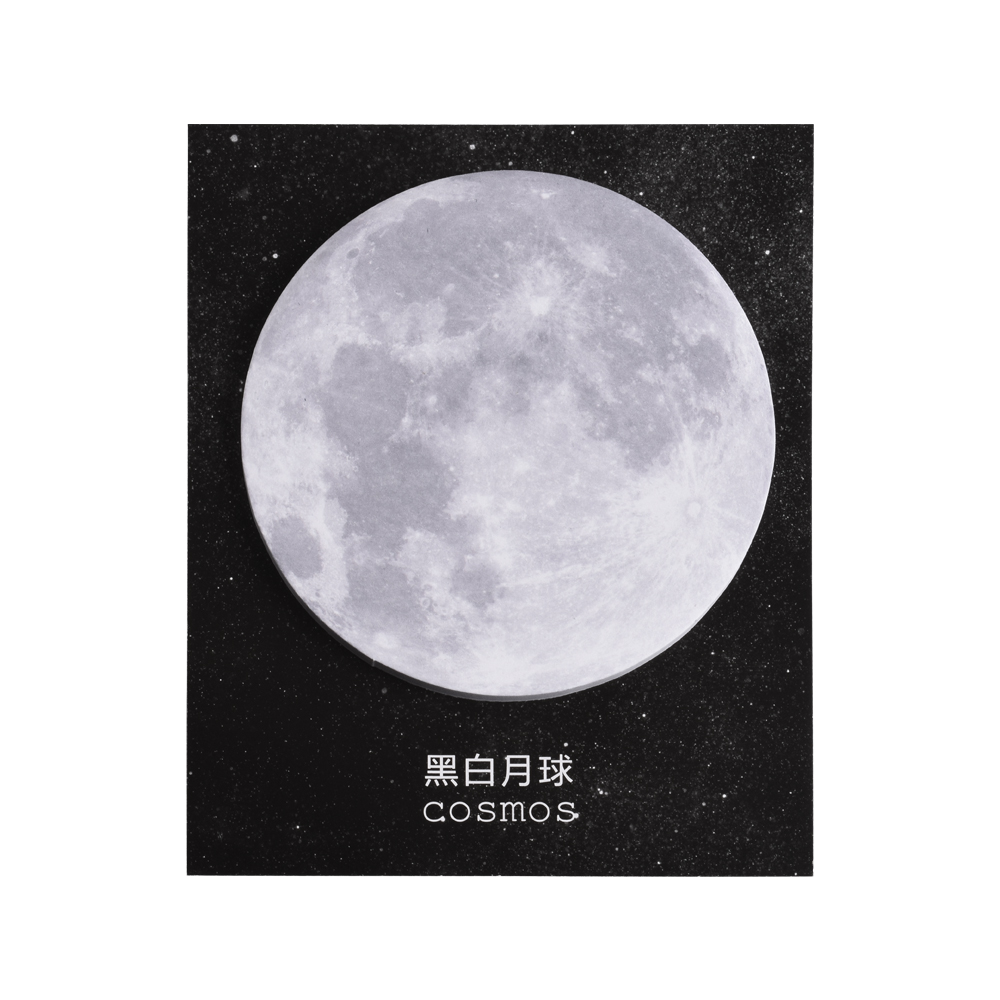 1PCS Lovely Moon Memo Pad Creative Round Shape Sticky Notes 30 Sheet Cute Sticker For Kid Gift School Office Stationery Bookmark