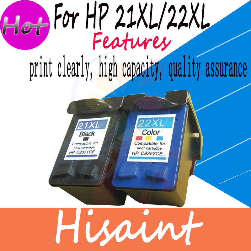 Compatible Ink Cartridge For HP 21XL C9351A And for HP 22XL C9352A For HP 1402 1406
