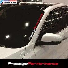 Prestige Performance pegatinas decorativas para parabrisas delantero, pegatina personalizada para puerta de coche, deportivo de estilismo, 55cm