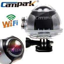 Campark 4 K Ultra HD Wifi Mini Cámara de La Acción 2448*2448 Cámara Panorámica de 360 Grados Panorámica de Conducción Deportiva de VR cámara