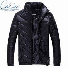 2016 autumn winter new men's Slim Warm down jacket Men's fashion casual cotton coat jacket size L-4XL